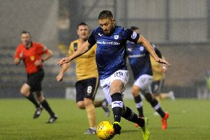 John Baird in action against Forfar on Tuesday night, (Pic: Fife Photo Agency)