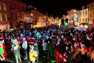 Cupar Christmas lights switched on