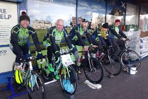Cycling team raise £1138 for Toy Drive appeal