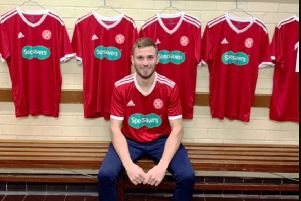 New signing Lewis Grierson made his debut against Craigroyston.
