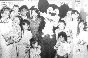 1989: Mickey Mouse visits Victoria Hospital
