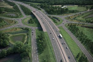 An artist's impression of the proposed Sheriffhall roundabout flyover.