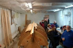 The club's members have already started work on the skiff