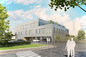 A new state-of-the-art elective orthopaedic centre is planned for completion in spring 2022. Image shows an artist's impression of what the new centre will look like. Pic: Graham Construction.