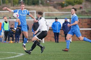 Action from Saturday's win in Dunbar. Pic: George Wallace