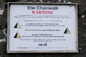 Man rescued after being stranded on Elie chain walk