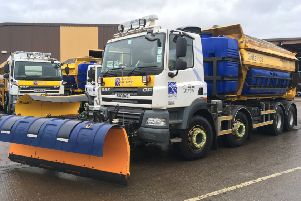BEAR Scotland's 'Sir Andy Flurry', Gritallica' and 'Ready, Spready, GO' gritters get set to tackle wintery conditions!