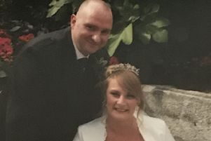 """Wedding day...just a week after their wedding in August 2017, Nick and Philippa Allan received a call on honeymoon that a donor had been found. Nick said he would be eternally grateful to his donor and their family for giving him """"a new life""""."""