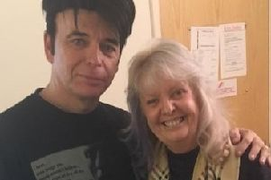 June Field with singer and songwriter Gary Numan