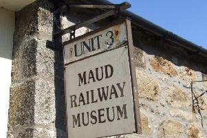 The Maud Railway Museum sign