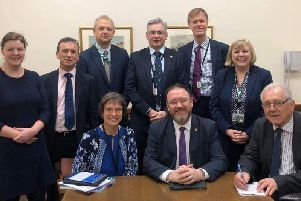 David Duguid pictured after his election as chair of the House of Commons broadband APPG