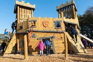 The new play area within the park has helped increase visitor numbers.