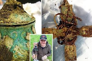 The historically significant find was made by Derek McLennan, a committed metal detector enthusiast in Dumfries and Galloway. Picture: SWNS