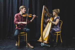 Fiddle player Charlie Stewart, will perform at the 4th annual Newton Stewart & Minnigaff Traditional Music Festival, accompanied by the wonderful Becky Hill on harp.