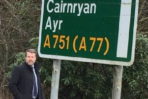 Finlay Carson MSP at the A77