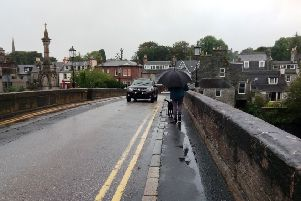 The narrow pavement on the bridge makes crossing tricky for those on foot, in wheelchairs and with buggies