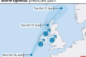 Ex-Ophelia set to cause havoc