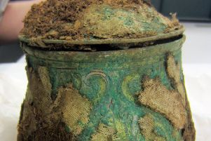 A Carolingian vessel found with the Galloway Hoard.
