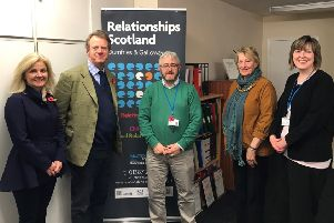 Alister Jack MP and his wife, Ann, visit the Dumfries and Galloway branch of Relationships Scotland