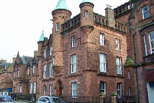 Dumfries Sheriff Court where an increase of almost 100 per cent in racial crime has been dealt with.