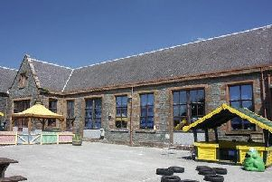Wigtown Primary where the number of classrooms are being reduced as the town is growing