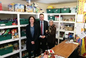 Smyth MSP visits Galloway foodbank.