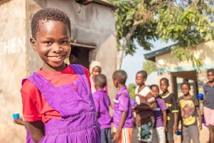 Felicitas (9) is just one of the many children supported by Mary's Meals.