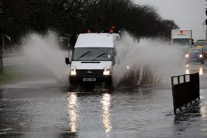 Flooding on the roads as well as rail lines are causing delays for commuters this morning.