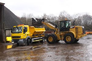 East Ren Council gritter being loaded
