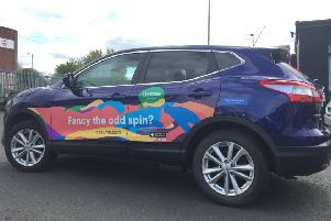 Would you be prepared to use your car as a mobile advertising space?