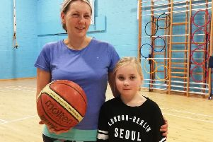 Caroline Wardle with her daughter, Isla, who exercise together at the Active Women and Girls classes.