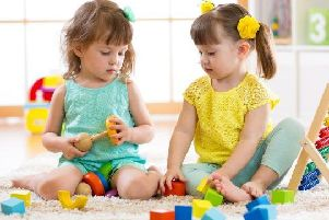 A 100 families benefitting from increased free childcare