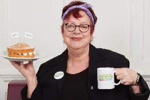 Cake and a cuppa...will not solve all of society's ills but comedian Jo Brand believes The Big Lunch can help our divided nation come together. The event ambassador is putting her money where her mouth is, staging her own Big Lunch this year. And she is encouraging readers to dip a toe into the 10th anniversary event - but not the soup!