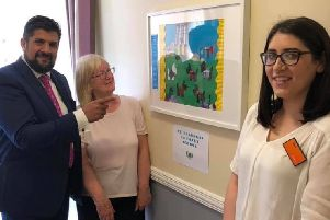 Darnley Court Care Home in Nitshill Rd, Glasgow, held a successful open day. Councillor Rashid Hussain helped judge the Scottish art work competition with the winning prize going to pupils from St Bernard's primary school.