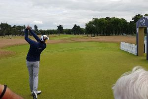 The final day's play is underway in North Berwick.