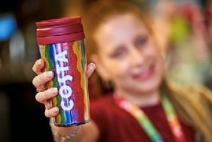 Costa Coffee creates a rainbow over Glasgow with the launch of Pride cups