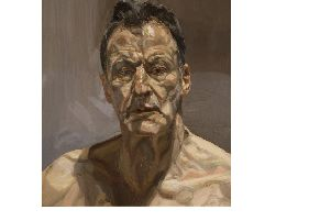 Reflection (Self Portrait), 1985 (oil on canvas) by Freud, Lucian (1922-2011). (Courtesy of www.bridgemanimages.com)