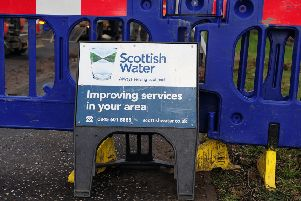 The road closure is being put in place to allow major work to be carried out by Scottish Water.