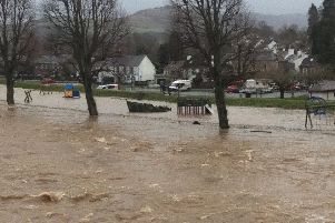 WATCH: Peebles' worst flood since 1949