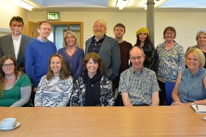 The ten playwrights participating in the workshops run by  Playwright Studio, Scotland.