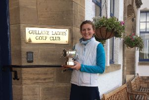 Tara Mactaggart with the Mackie Bowl after winning by four shots at Gullane