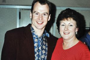 Steve 'Hizzy' Hislop with his mother Margaret.