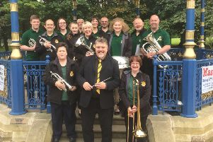 Massed Brass in Wilton Lodge Park.