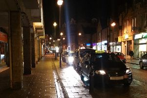 The taxi rank at Channel St, Galashiels