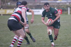 Hawick's Sean Muir in action against Stirling