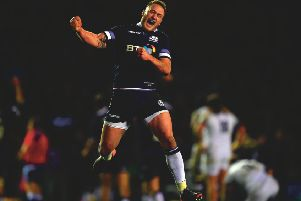 Stuart Hogg celebrates win over England