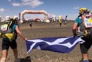 Holly and her dad take the Highway to Hell in the Marathon des Sables