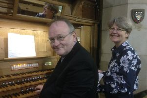 Chris Achenbach, Director of Music at Holy Trinity church, and Kate Blackledge, one of the church choristers, put in some practice for the music festival, which starts on Saturday, May 17.