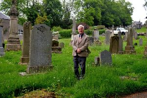 Hawick and Hermitage councillor Davie Paterson at the old church site.