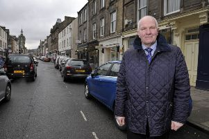 Hawick and Hermitage councillor Watson McAteer in Hawick High Street.